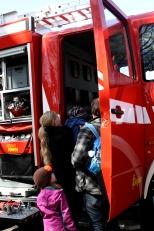 ...waren die Feuerwehrautos...