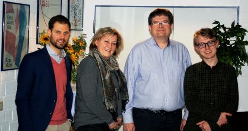 Listenkandidaten FDP Altenholz Kommunalwahl 2018 (Philipp Neuenfeldt, Ursula Bethke, Dirk Ryll, Georg Willenborg, vlnr)